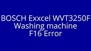 how to fix bosch exxcel washing machine with error code f16 youtube