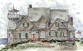 Coastal Cottage Plans by Garrell Associates Inc Beacon Hill Lighthouse 06123 Front
