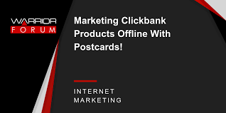 marketing clickbank products offline with postcards warrior