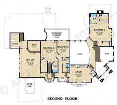 2nd Floor House Plan by Hermann Park Residential House Plans Luxury House Plans