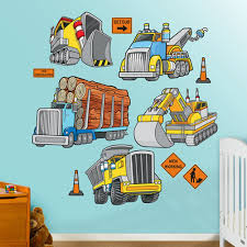 construction wall decals totally kids totally bedrooms kids work trucks