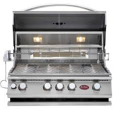 Gas Patio Lights by Cal Flame 32 Inch 4 Burner Built In Gas Bbq Grill With Convection