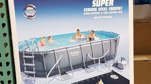 sand and water table costco costco bestway oval pool w solar water heater and kit 499