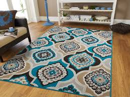 Orange And Brown Area Rug Home Design Clubmona Decorative Blue And Tan Area Rugs
