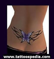 lower back designs for butterfly tattoos on lower