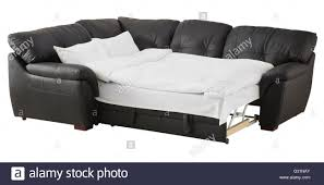 corner couch black brown leather corner couch bed isolated on white include