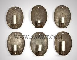 Tin Wall Sconce Tin Candle Wall Sconces Pair Of Handsome Sheet Brass Wall