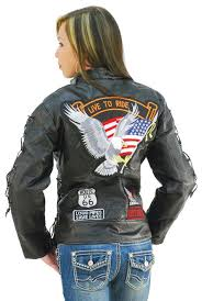 textile motorcycle jacket women u0027s motorcycle jacket w patches l1890eagle