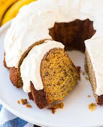 best banana bundt cake with vanilla cream cheese frosting