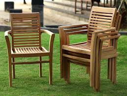 dining tables amazing teak stacking arm chair garden dining