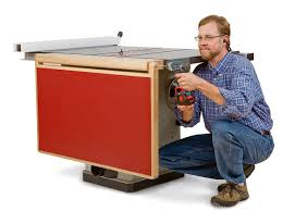 Folding Table Saw Stand Build A Folding Outfeed Table To Mount On Your Table Saw Stand