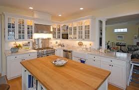 kitchen style wooden material cottage design granite countertops