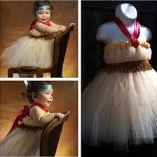 Tiger Lily Halloween Costume Movie Peter Pan Tiger Lily Princess Cosplay Tutu Dress Baby