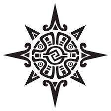 aztec tribal sun design