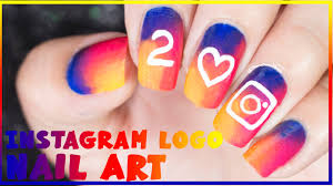 instagram logo nail art nanasanzmes3 youtube
