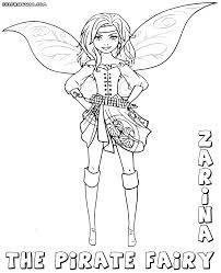 pirate fairy coloring pages coloring pages download print