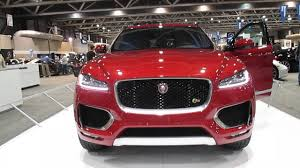 jaguar jeep inside 2016 jaguar f pace red 4 door suv at autofest 2016 youtube