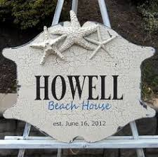 Custom Signs For Home Decor Beach House Sign Personalized Family Name Sign With Established