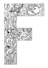 coloriage alphabet animal f sur hugolescargot com hugolescargot