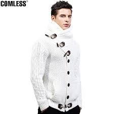high sweaters 2017 winter high collar cardigan sweater keep warm