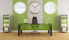 modern office design concept with minimalistic director room and