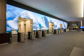salesforce video wall digital art installation by obscura grid