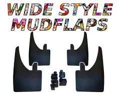 nissan juke mud flaps 4 x new quality wide mudflaps to fit nissan juke free clamps ebay