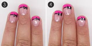 fancy french tip bow nail art more com
