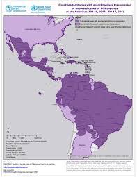 The Americas Map Paho Who Chikungunya Geographic Distribution Paho Who Data