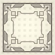 Art Deco Floor Plans Art Deco Square Frame With Straight Lines Vector Image 148178