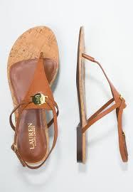 lauren ralph lauren anita t bar sandals tan women flip flops