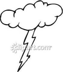 Drawn Cloud Lightning Pencil And In Color Drawn Cloud Lightning