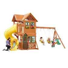goldenridge deluxe wood gym set backyard toys big backyard and