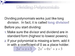 2 3 polynomial division objectives ppt video online download