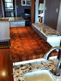 custom solid wood end grain jatoba counter top custom