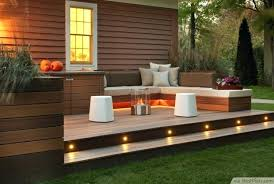 Garden Wall Lights Patio Garden Patio Lights Modern Deck With Led Stair Lights Outside