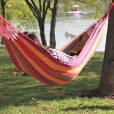 large canvas nylon hammock hang sleeping bed outdoor camping