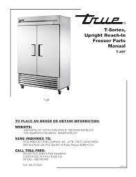 download free pdf for true t 49f freezer manual