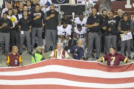 American Flag At Night Rules Do Nfl Rules Say Players Must Stand During The Anthem Q13 Fox News