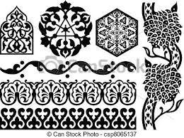 vectors illustration of islamic ornaments on white csp8065137