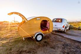 tiny yellow teardrop rent a teardrop trailer on airbnb