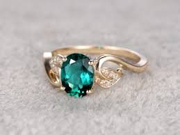 flower engagement ring vintage emerald promise rings for 14k 18k gold engagement ring bbbgem