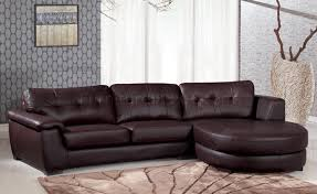 Comfy Sectional Sofa by 3612 Sectional Sofa In Brown Leather By Global