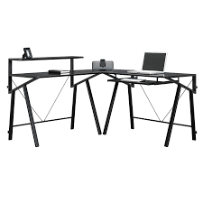 L Shaped Black Glass Desk by Glass L Shaped Computer Desk 5 Tips For Choosing Glass L Shaped
