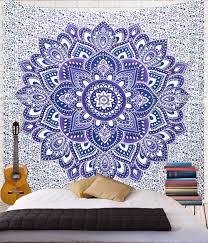Bedroom Ideas With Tapestry Blue Purple Flower Tapestry U2026 College Things Pinterest