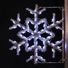Christmas Decorations Outdoor by Shop Holiday Lighting Specialists 4 Ft Garland Snowflake Pole