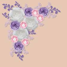flower backdrop 12 pc combo white lavender ranunculus paper flower backdrop