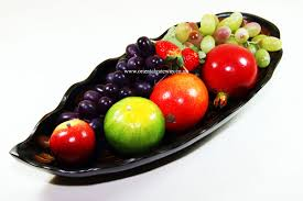 Decorative Fruit Bowl by Wooden Leaf Shaped Fruit Bowls