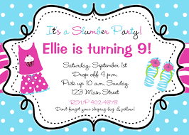 slumber party birthday invitation flip flops pajama party