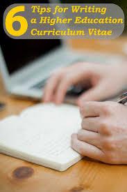 curriculum vitae sle college professor 6 tips for writing a higher education curriculum vitae